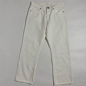DL1961 Vince Straight White Denim Jean Pants